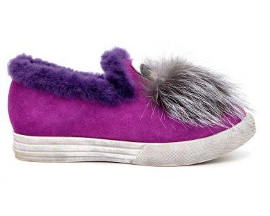 Туфлі на хутрі 6008-2 - фото