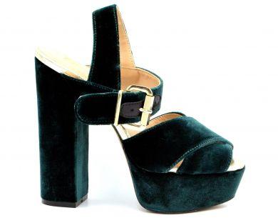 Босоножки на каблуке 11-336 - фото