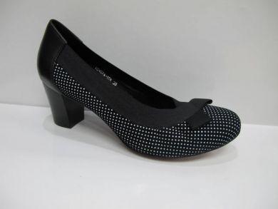 Туфли комфорт на каблуке 407-10-1 - фото