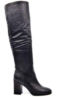Сапоги на среднем каблуке 1702 - фото