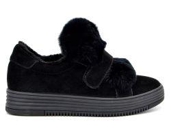 Туфли на меху 71-1-10 - фото
