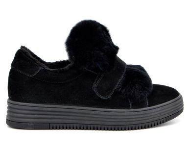 Туфлі на хутрі 71-1-10 - фото