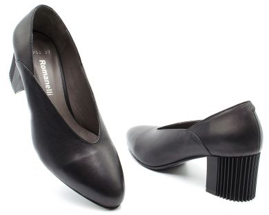 Туфли лодочки на среднем каблуке 2750 - фото 8