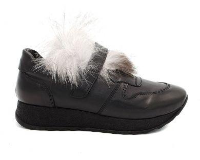 Кросівки з хутром 30113 - фото