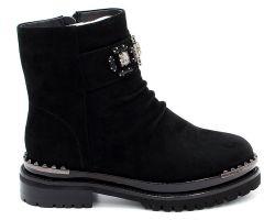 Зимние ботинки на толстой подошве 168-6210 - фото