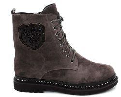 Зимние ботинки на толстой подошве 456-286 - фото