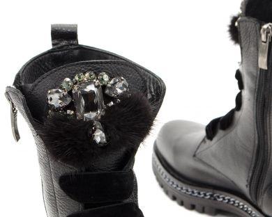 Черевики високі на шнурівці 736 - фото