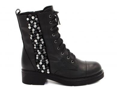 Ботинки высокие на шнуровке 8036 - фото