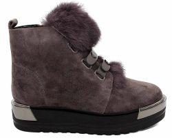 Зимние ботинки на толстой подошве 407-170-10 - фото