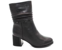 Зимние ботинки на каблуке 11572 - фото