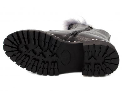 Черевики високі на шнурівці 9-80 - фото
