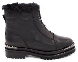 Зимние ботинки на толстой подошве 168-5105 - фото