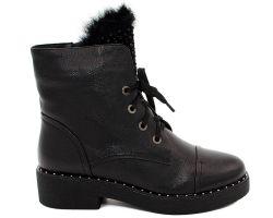 Зимние ботинки на толстой подошве 08-2 - фото