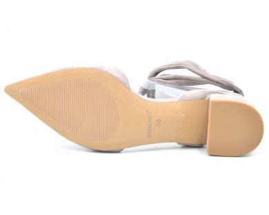 Босоножки на среднем каблуке 613-521 - фото