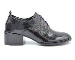 Туфли средний каблук на шнурке 12019-15 - фото