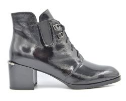 Ботинки на среднем каблуке 58-1-12 - фото
