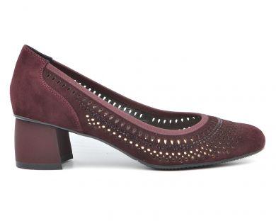 Туфли лодочки на среднем каблуке 05-2-10 - фото