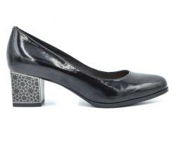 Туфли лодочки на среднем каблуке 67-1-12 - фото
