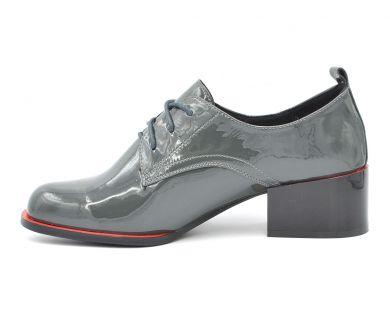 Туфлі на середньому підборі на шнурку 538-7168 - фото