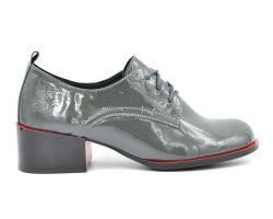 Туфли средний каблук на шнурке 538-7168 - фото