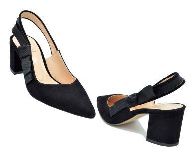 Туфли с открытой пяткой на каблуке 2245-1 - фото