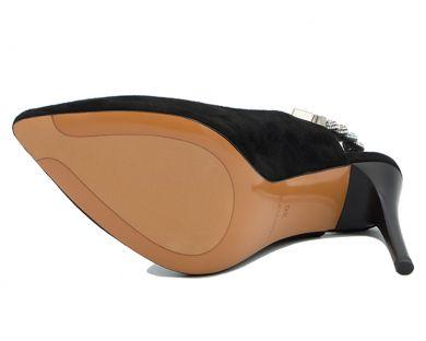 Туфлі з відкритою п'ятою на підборах 8313-926 - фото