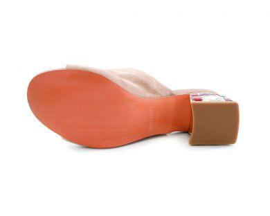 Шлепанцы на каблуке 01810-01-10 - фото