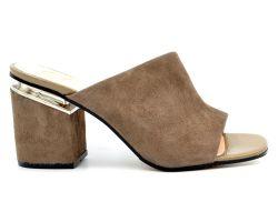 2a25502e7 Женские шлепанцы на каблуке: купить шлепки на каблуке недорого в ...