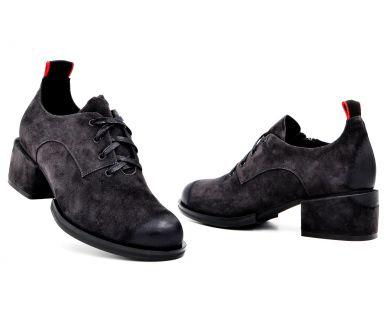 Туфлі на середньому підборі на шнурку 603-3 - фото