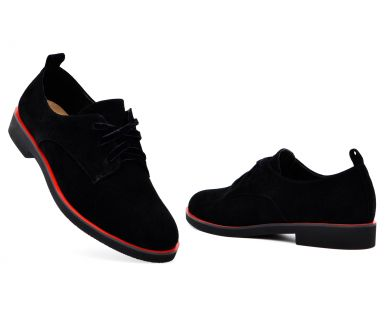 Туфлі на низькому ходу на шнурках 7942-1-001 - фото
