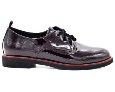 Туфлі на низькому ходу на шнурках 7942-1-1057 - фото