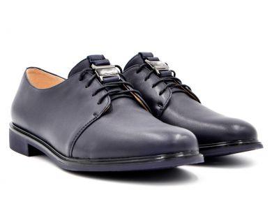 Туфлі на низькому ходу на шнурках 3-491-1301 - фото