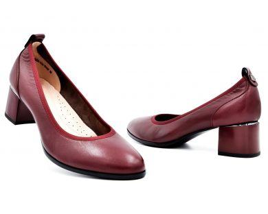 Туфлі човники на середніх підборах 550-01-542 - фото