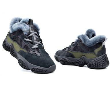 Кросівки з хутром 8356-1 - фото
