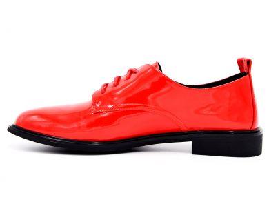 Туфлі на низькому ходу на шнурках 18-94-03 - фото