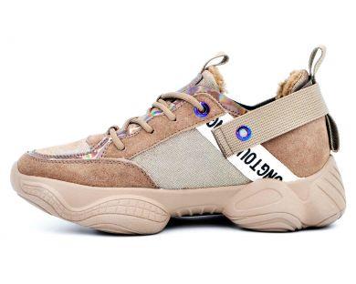 Кросівки з хутром 2055-16 - фото