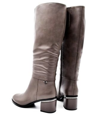 Сапоги на среднем каблуке 64-2 - фото