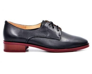 Туфлі на низькому ходу на шнурках 83-1-1 - фото