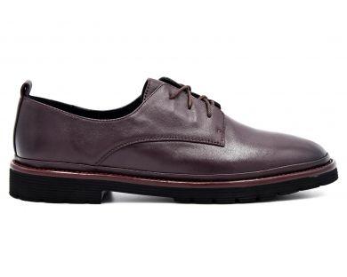 Туфлі на низькому ходу на шнурках 71-3 - фото