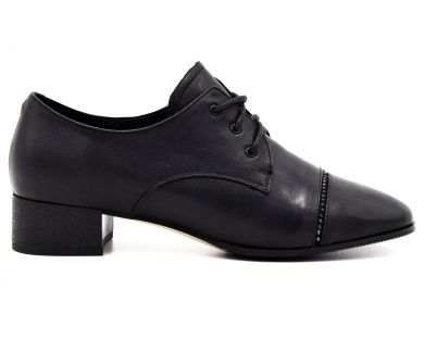Туфли средний каблук на шнурке 2113-3376 - фото