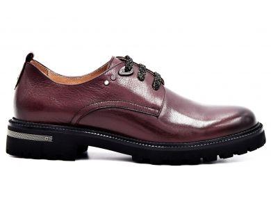 Туфлі на низькому ходу на шнурках 9221-1 - фото