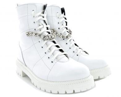 Черевики високі на шнурівці 1024-102 - фото