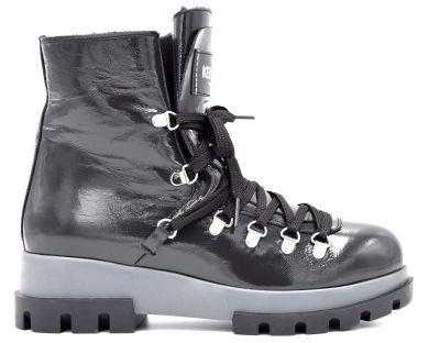 Ботинки на толстой подошве 09628 - фото