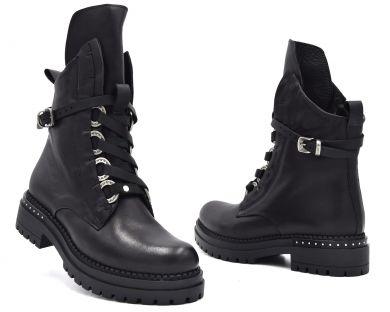 Ботинки высокие на шнуровке 7267 - фото