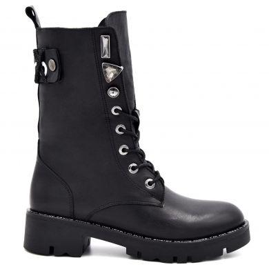 Ботинки высокие на шнуровке 3663 - фото