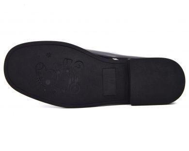 Туфлі на низькому ходу на шнурках 017-01-2 - фото