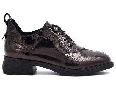 Туфлі на низькому ходу на шнурках 5505-1 - фото