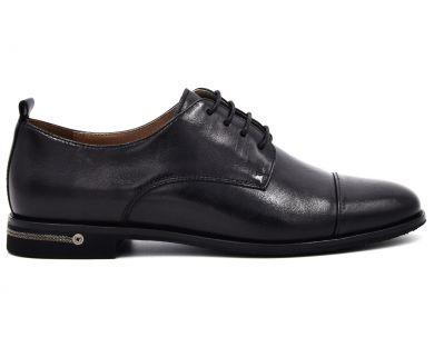 Туфлі на низькому ходу на шнурках 0708-16 - фото