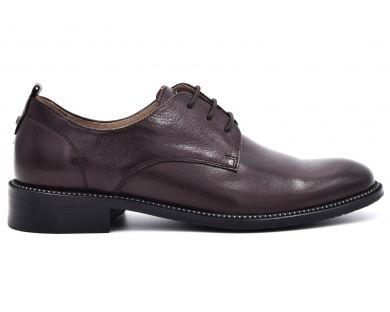 Туфли на низком ходу на шнурках 0031-11 - фото