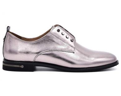 Туфлі на низькому ходу на шнурках 0708-11 - фото